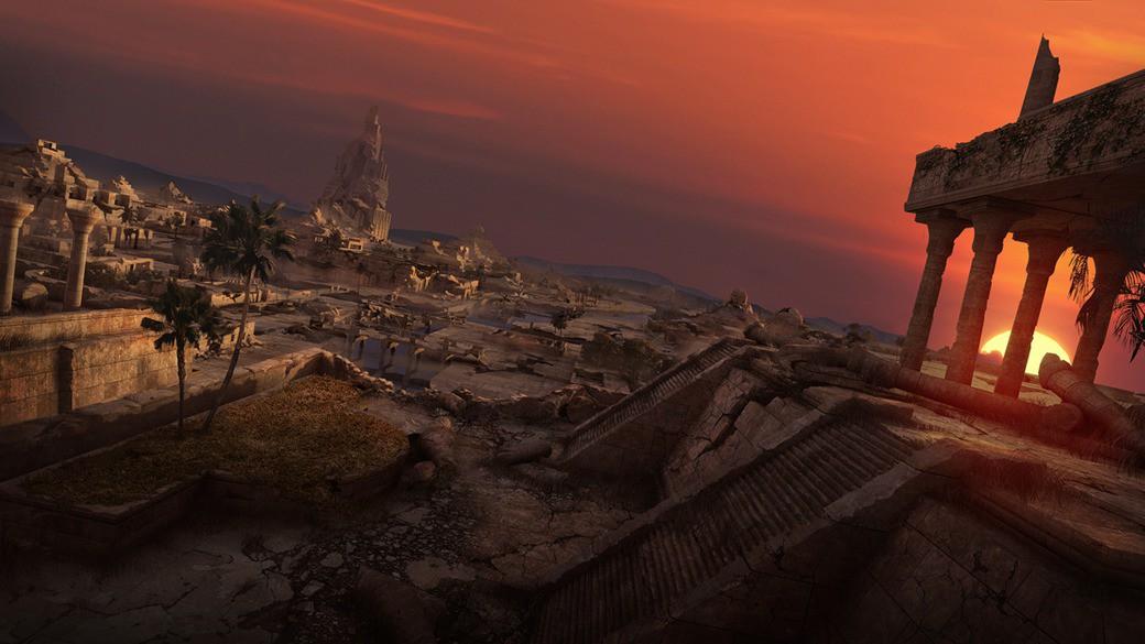Templo antiguo erosionado
