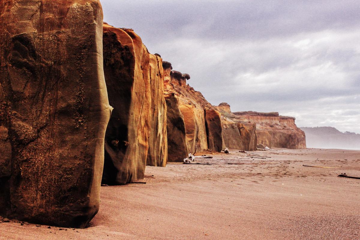 rocas playa paisaje
